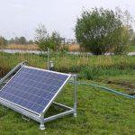 Plaatsing plas-dras hooilandpomp